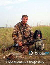 Соревнование легавых собак по фазану